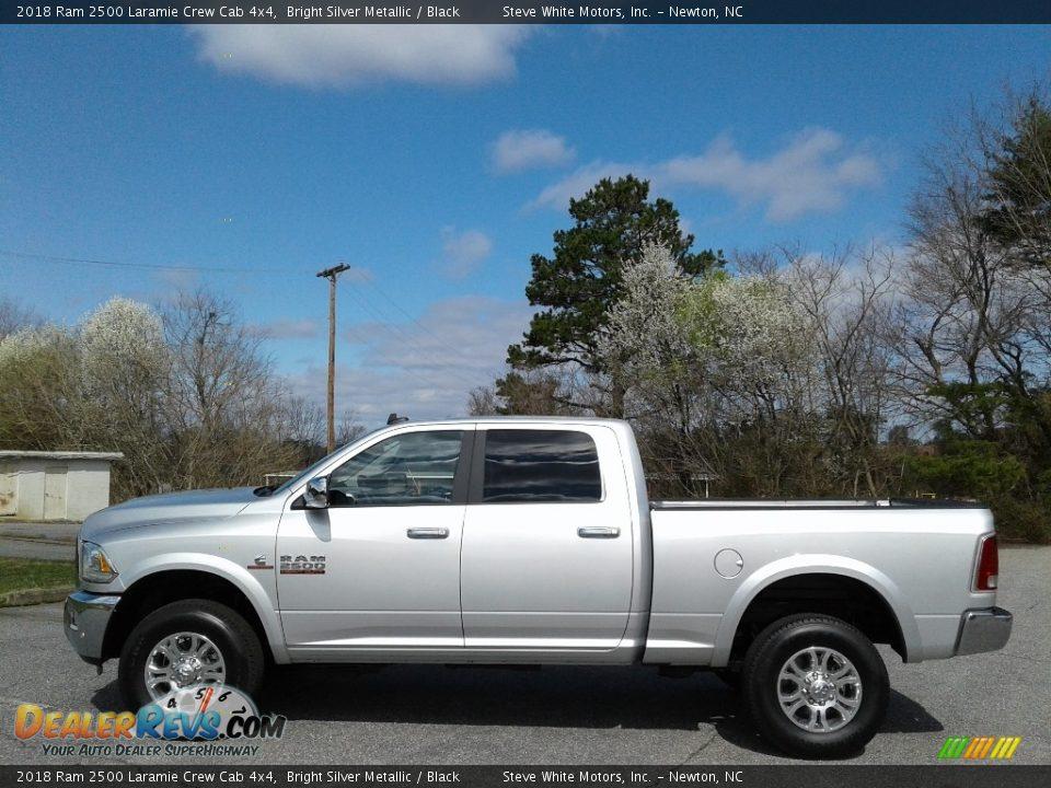 2018 Ram 2500 Laramie Crew Cab 4x4 Bright Silver Metallic / Black Photo #1