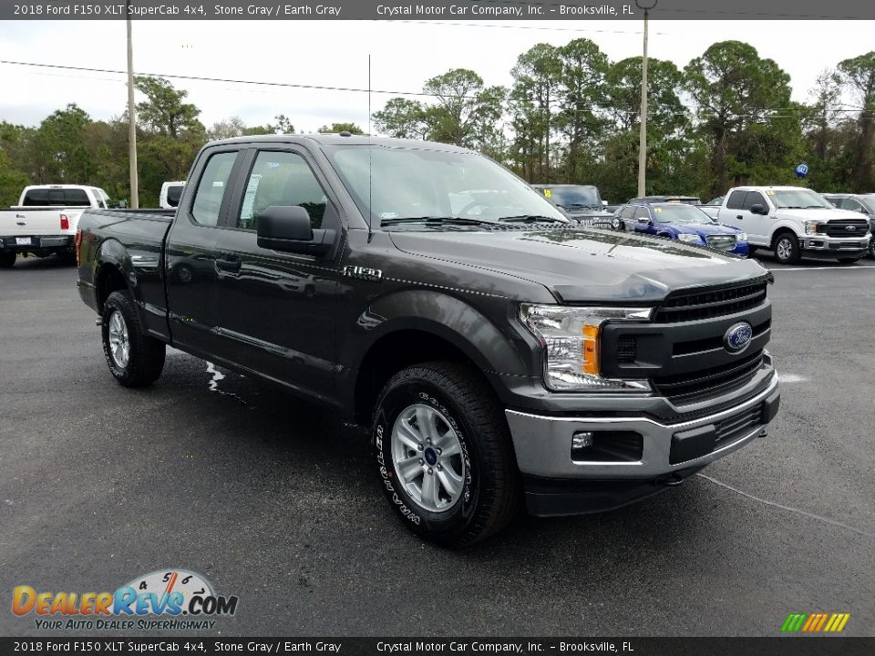 2018 Ford F150 XLT SuperCab 4x4 Stone Gray / Earth Gray Photo #7