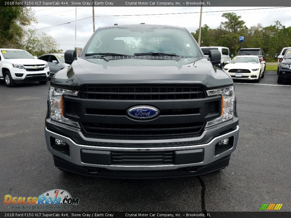 2018 Ford F150 XLT SuperCab 4x4 Stone Gray / Earth Gray Photo #8
