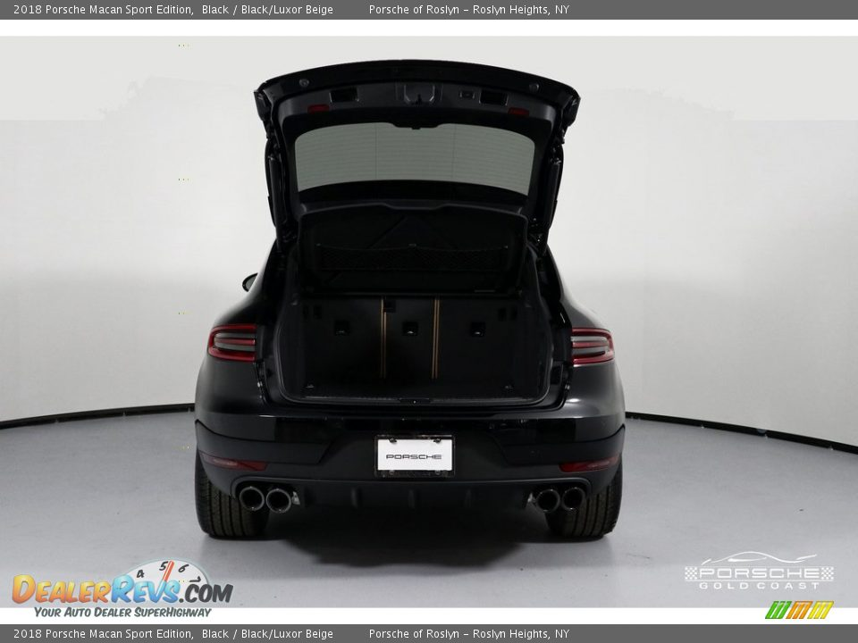 2018 Porsche Macan Sport Edition Black / Black/Luxor Beige Photo #6