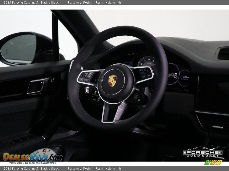 2019 Porsche Cayenne S Black / Black Photo #14
