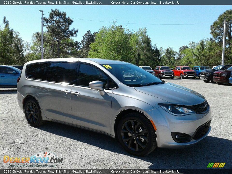 2019 Chrysler Pacifica Touring Plus Billet Silver Metallic / Black/Black Photo #7