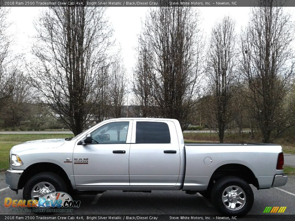 2018 Ram 2500 Tradesman Crew Cab 4x4 Bright Silver Metallic / Black/Diesel Gray Photo #1