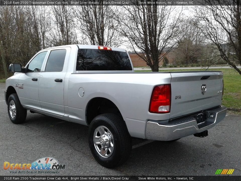 2018 Ram 2500 Tradesman Crew Cab 4x4 Bright Silver Metallic / Black/Diesel Gray Photo #8