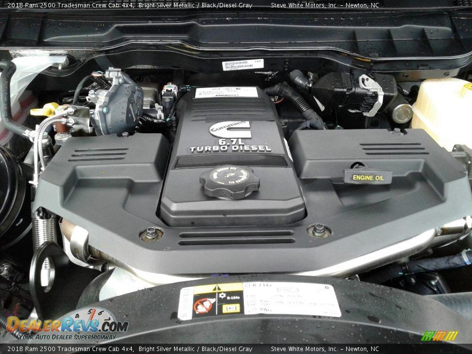 2018 Ram 2500 Tradesman Crew Cab 4x4 Bright Silver Metallic / Black/Diesel Gray Photo #26