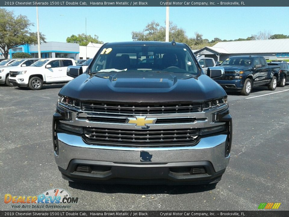 2019 Chevrolet Silverado 1500 LT Double Cab Havana Brown Metallic / Jet Black Photo #8