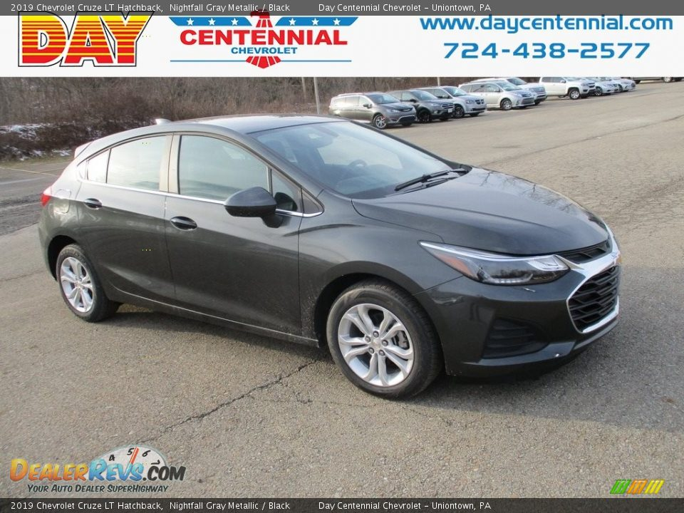 2019 Chevrolet Cruze LT Hatchback Nightfall Gray Metallic / Black Photo #1