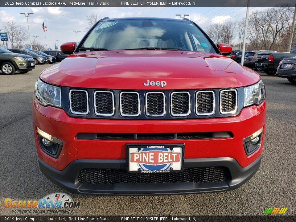 2019 Jeep Compass Latitude 4x4 Red-Line Pearl / Black Photo #2