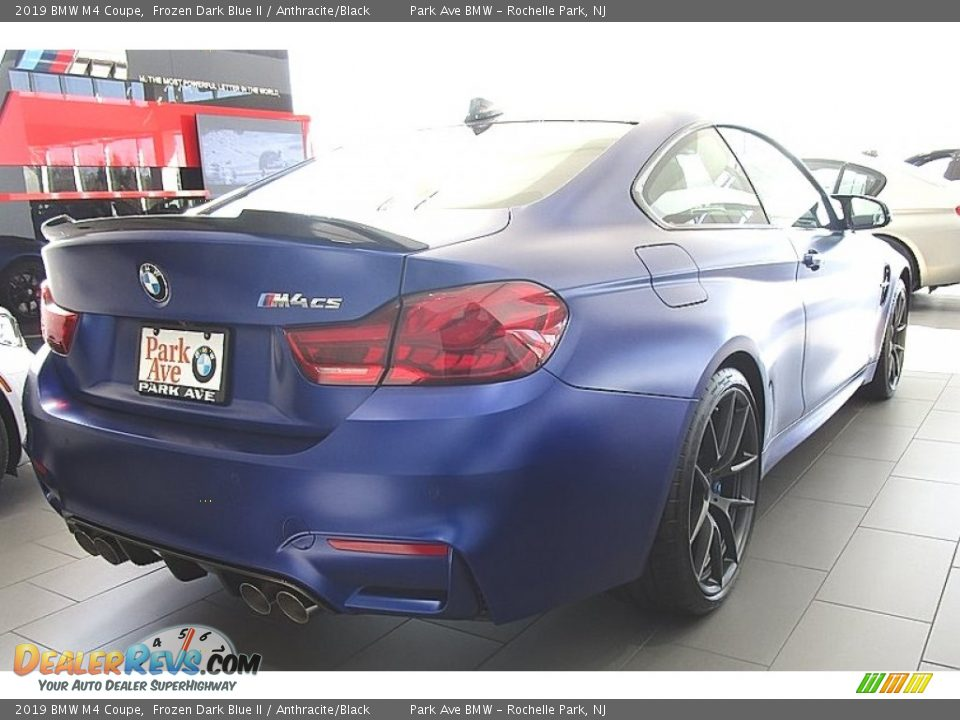 2019 BMW M4 Coupe Frozen Dark Blue II / Anthracite/Black Photo #6