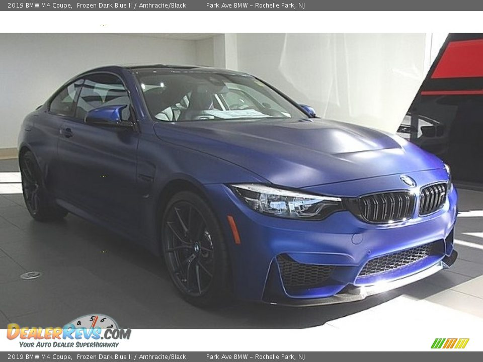 Frozen Dark Blue II 2019 BMW M4 Coupe Photo #7