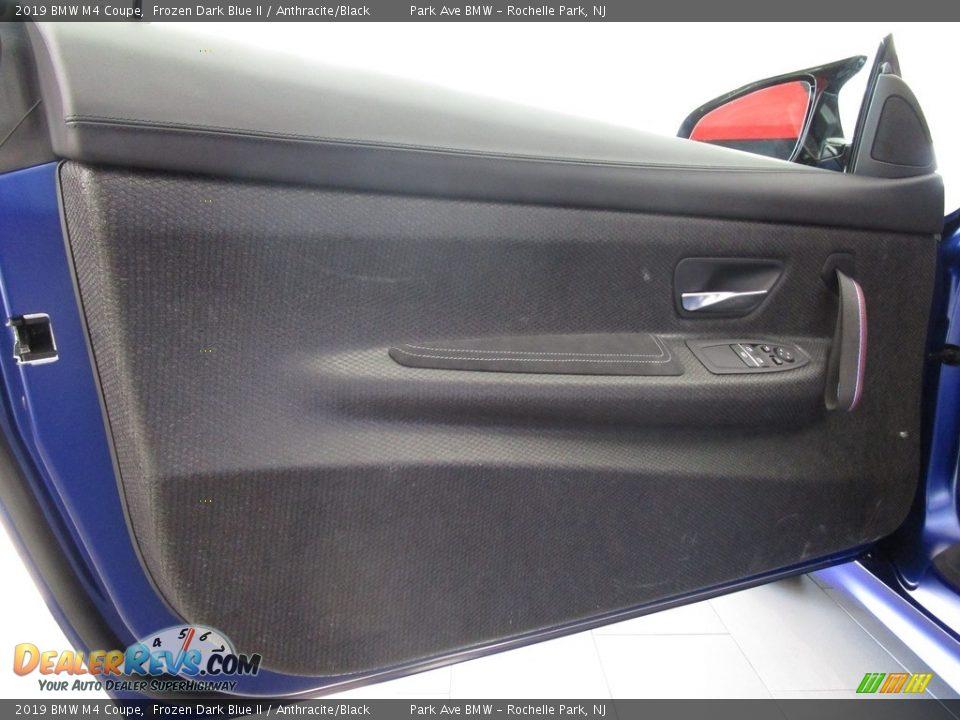 2019 BMW M4 Coupe Frozen Dark Blue II / Anthracite/Black Photo #9
