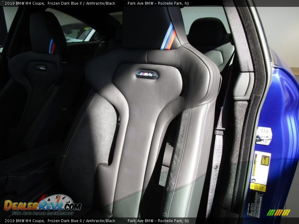 2019 BMW M4 Coupe Frozen Dark Blue II / Anthracite/Black Photo #10
