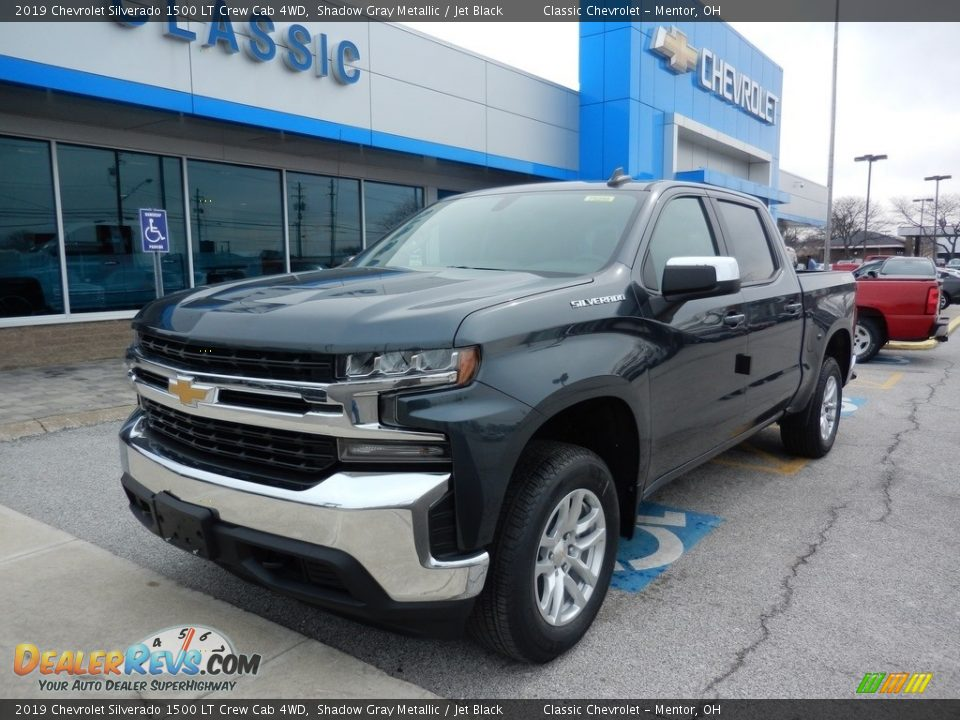 2019 Chevrolet Silverado 1500 LT Crew Cab 4WD Shadow Gray Metallic / Jet Black Photo #1