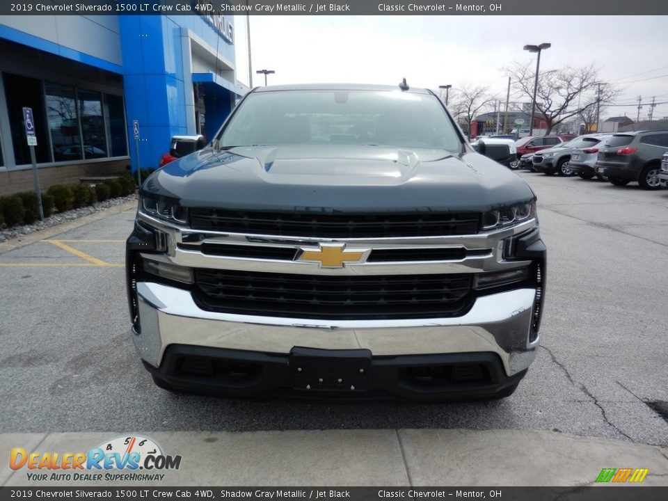 2019 Chevrolet Silverado 1500 LT Crew Cab 4WD Shadow Gray Metallic / Jet Black Photo #2
