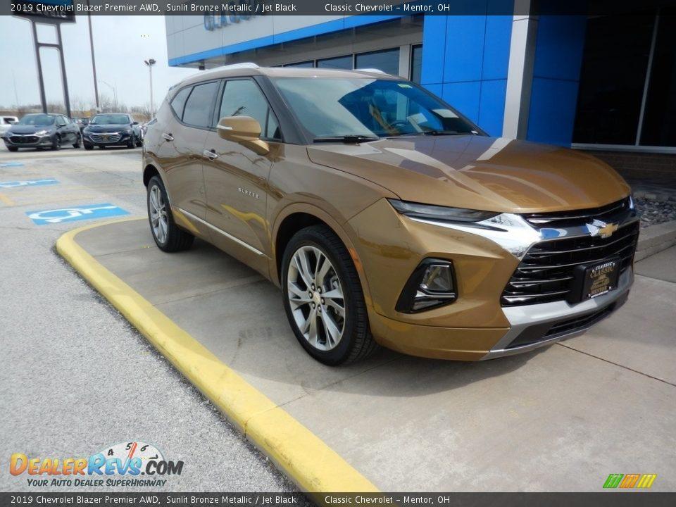 2019 Chevrolet Blazer Premier AWD Sunlit Bronze Metallic / Jet Black Photo #3