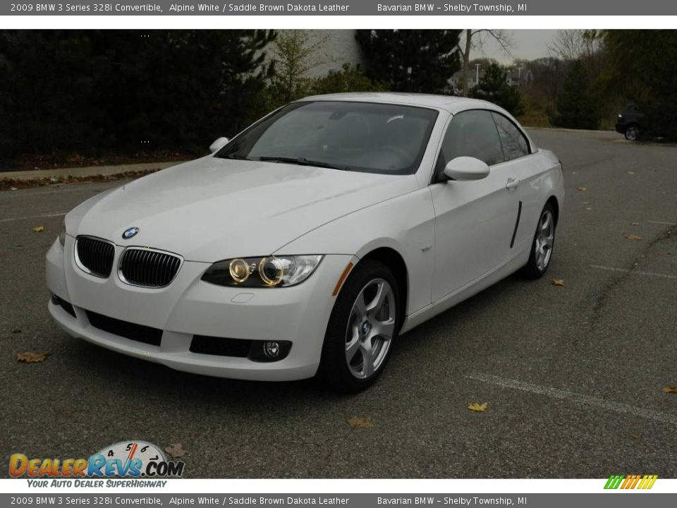 2009 bmw 3 series 328i convertible alpine white saddle brown dakota leather photo 1. Black Bedroom Furniture Sets. Home Design Ideas