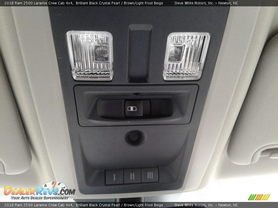 2018 Ram 2500 Laramie Crew Cab 4x4 Brilliant Black Crystal Pearl / Brown/Light Frost Beige Photo #32