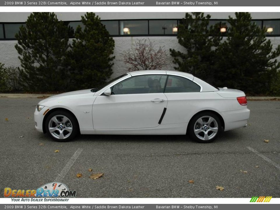 2009 bmw 3 series 328i convertible alpine white saddle brown dakota leather photo 2. Black Bedroom Furniture Sets. Home Design Ideas