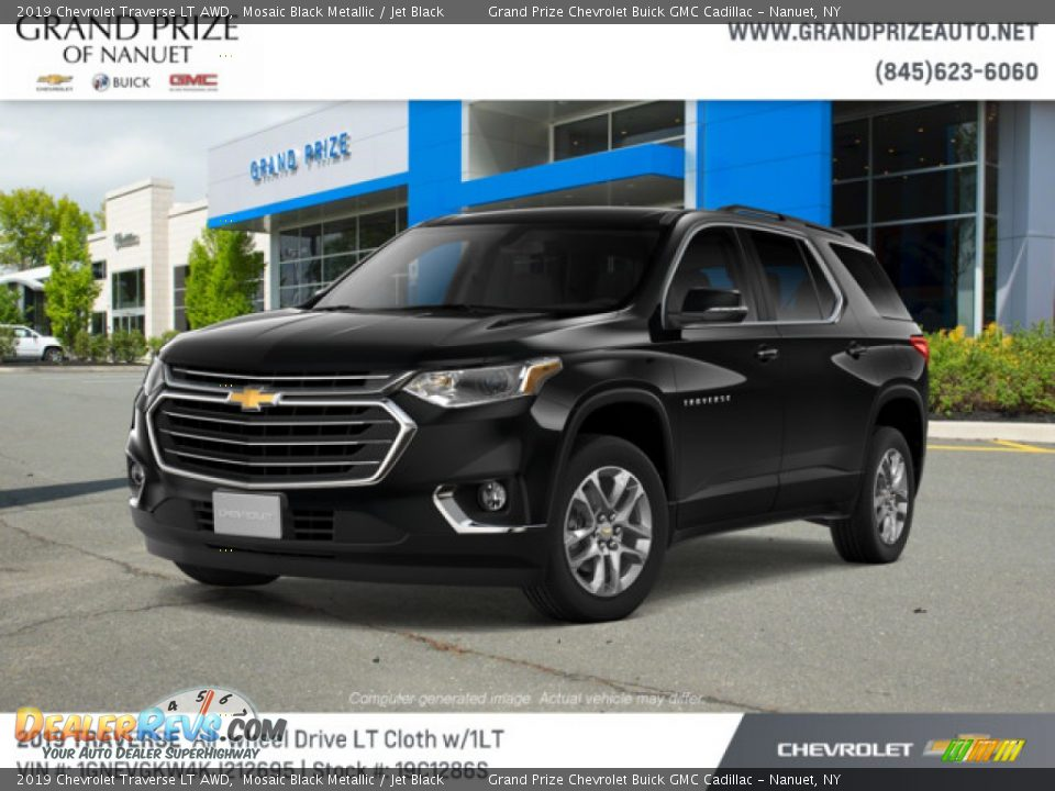 2019 Chevrolet Traverse LT AWD Mosaic Black Metallic / Jet Black Photo #1