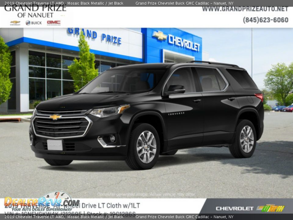 2019 Chevrolet Traverse LT AWD Mosaic Black Metallic / Jet Black Photo #2