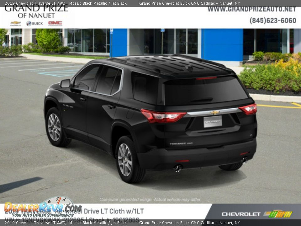 2019 Chevrolet Traverse LT AWD Mosaic Black Metallic / Jet Black Photo #3