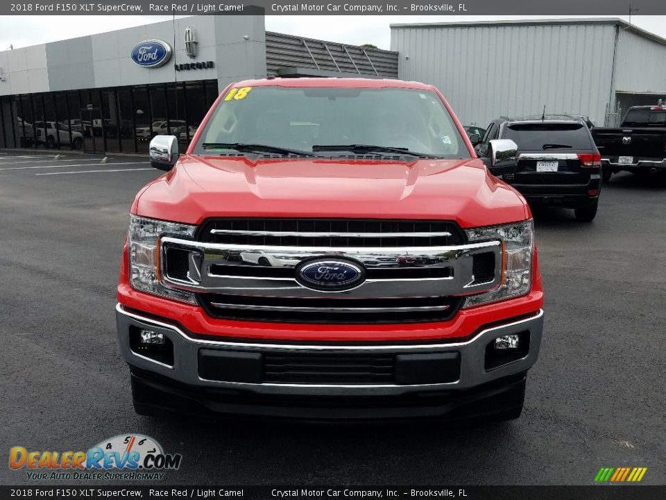 2018 Ford F150 XLT SuperCrew Race Red / Light Camel Photo #8