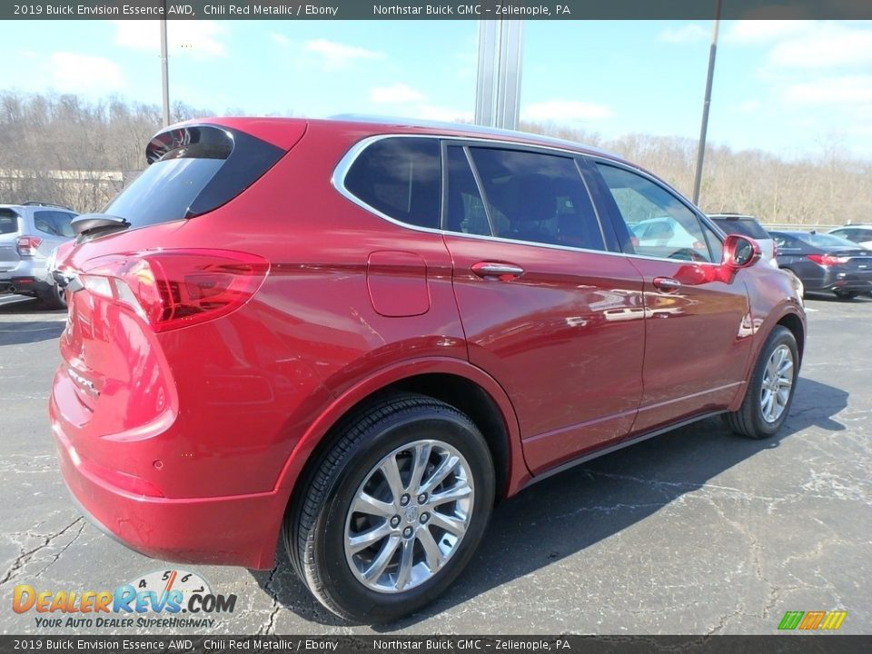 2019 Buick Envision Essence AWD Chili Red Metallic / Ebony Photo #5