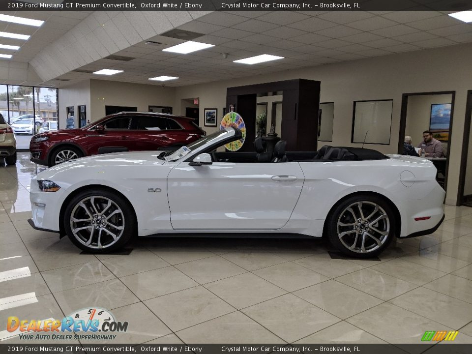 2019 Ford Mustang GT Premium Convertible Oxford White / Ebony Photo #2