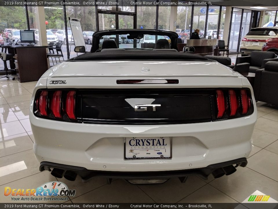 2019 Ford Mustang GT Premium Convertible Oxford White / Ebony Photo #4