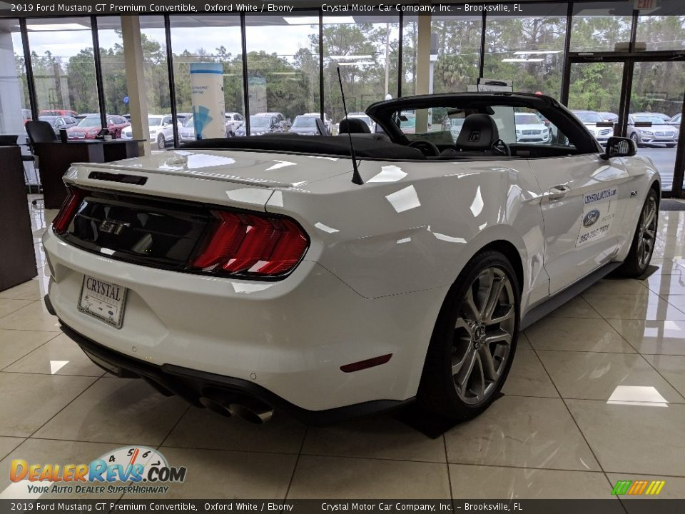 2019 Ford Mustang GT Premium Convertible Oxford White / Ebony Photo #5