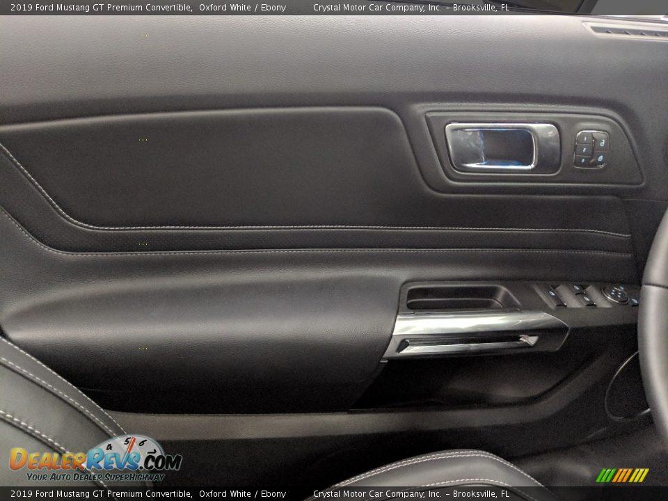Door Panel of 2019 Ford Mustang GT Premium Convertible Photo #7