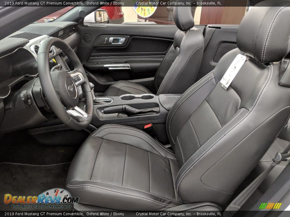Front Seat of 2019 Ford Mustang GT Premium Convertible Photo #16