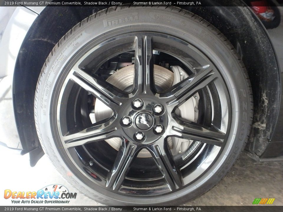 2019 Ford Mustang GT Premium Convertible Shadow Black / Ebony Photo #5