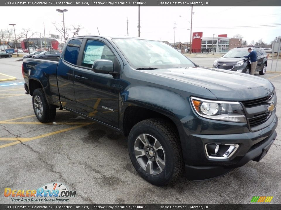 2019 Chevrolet Colorado Z71 Extended Cab 4x4 Shadow Gray Metallic / Jet Black Photo #3