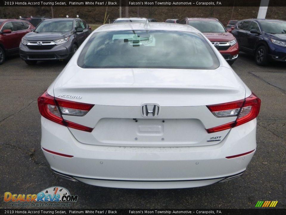 2019 Honda Accord Touring Sedan Platinum White Pearl / Black Photo #4