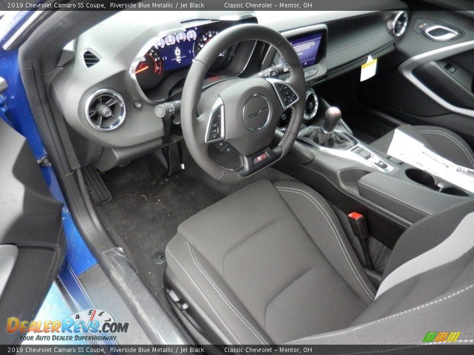 2019 Chevrolet Camaro SS Coupe Riverside Blue Metallic / Jet Black Photo #6