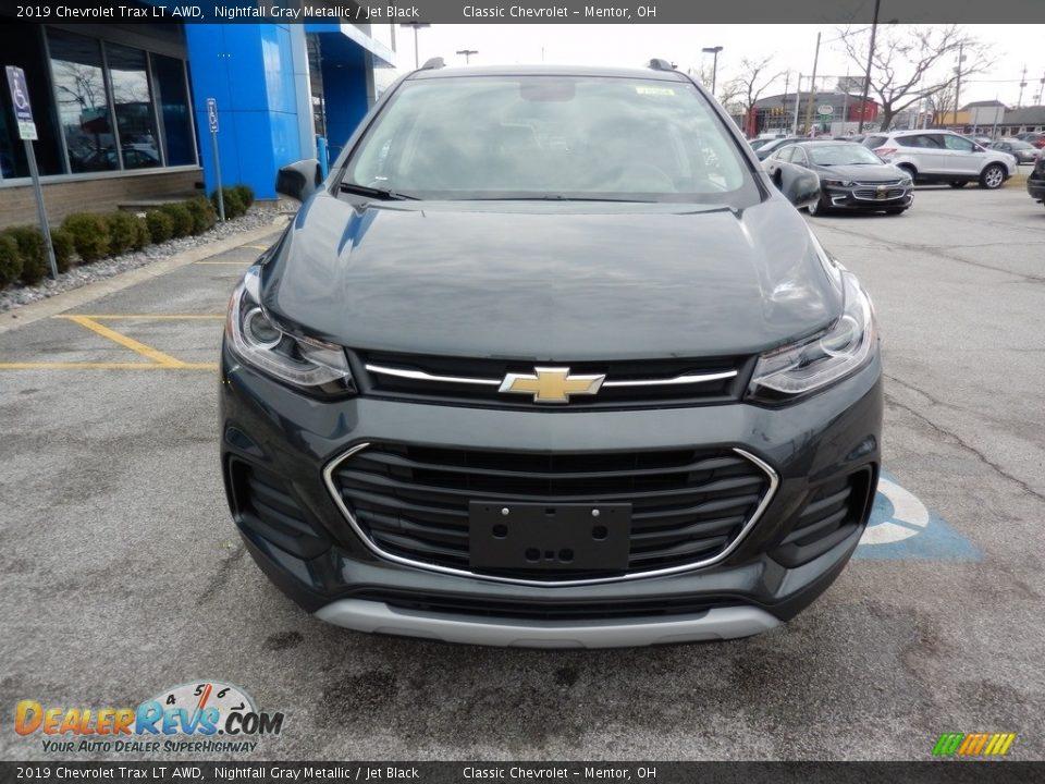 2019 Chevrolet Trax LT AWD Nightfall Gray Metallic / Jet Black Photo #2