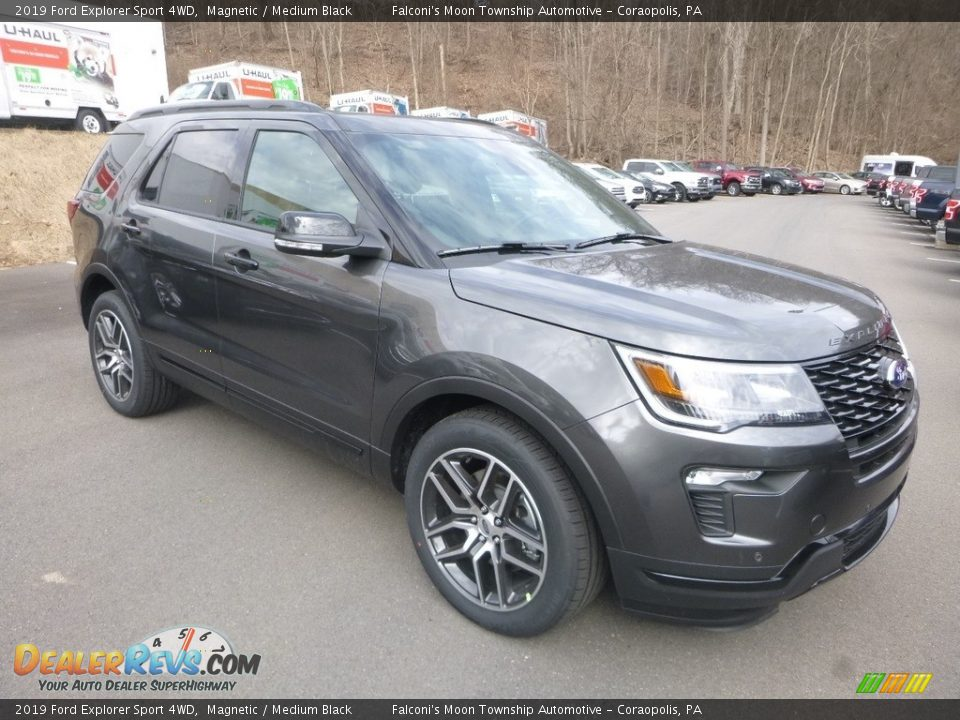 2019 Ford Explorer Sport 4WD Magnetic / Medium Black Photo #3