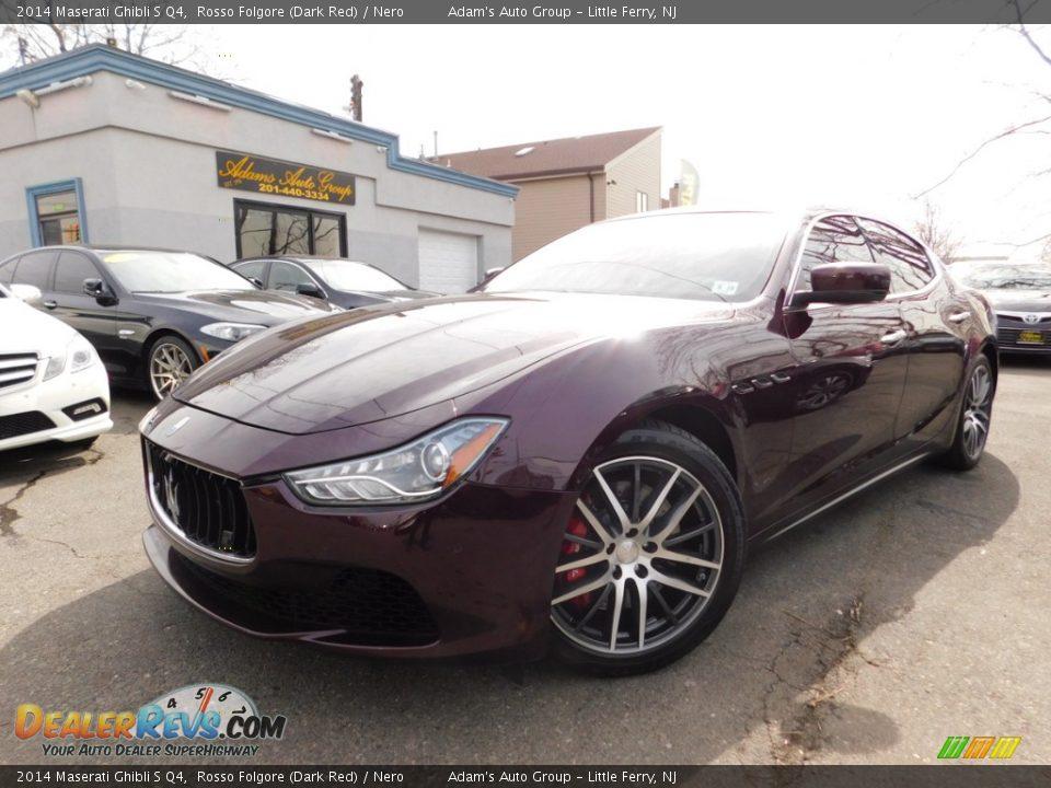2014 Maserati Ghibli S Q4 Rosso Folgore (Dark Red) / Nero Photo #1