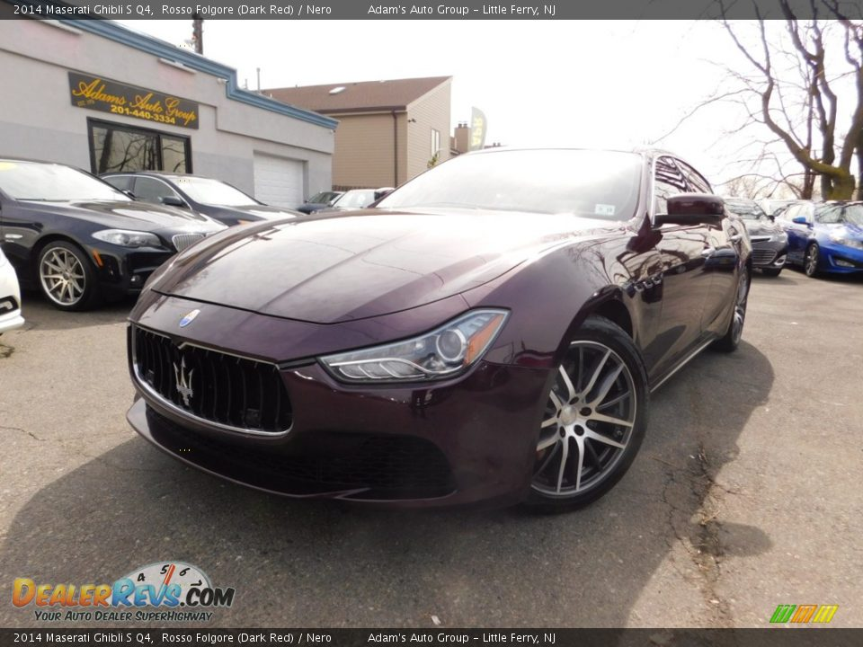 2014 Maserati Ghibli S Q4 Rosso Folgore (Dark Red) / Nero Photo #2
