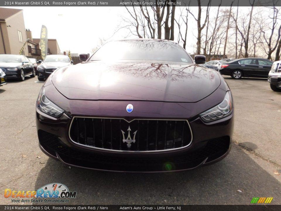 2014 Maserati Ghibli S Q4 Rosso Folgore (Dark Red) / Nero Photo #3
