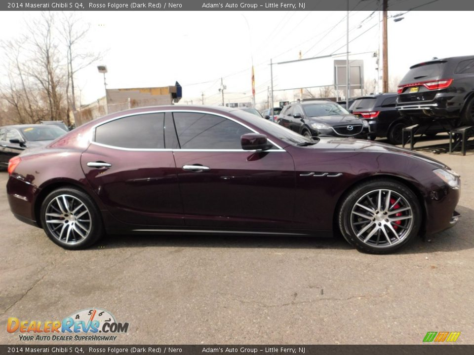 2014 Maserati Ghibli S Q4 Rosso Folgore (Dark Red) / Nero Photo #5