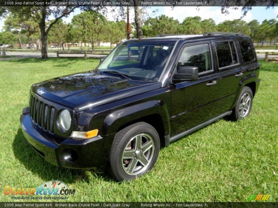 2008 Jeep Patriot Sport 4x4 Brilliant Black Crystal Pearl / Dark Slate Gray Photo #1