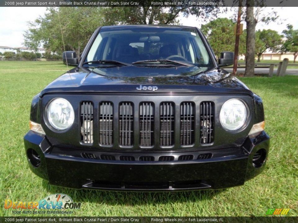 2008 Jeep Patriot Sport 4x4 Brilliant Black Crystal Pearl / Dark Slate Gray Photo #12