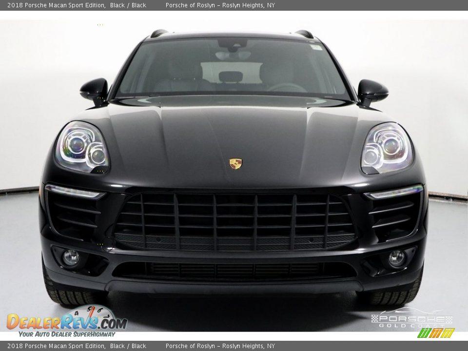 2018 Porsche Macan Sport Edition Black / Black Photo #2