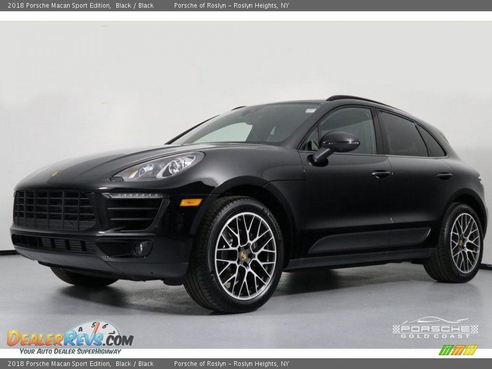 2018 Porsche Macan Sport Edition Black / Black Photo #3