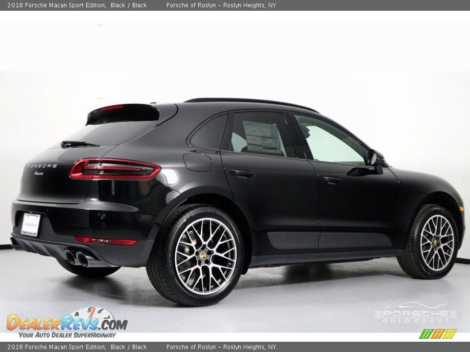 2018 Porsche Macan Sport Edition Black / Black Photo #9