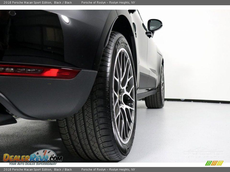 2018 Porsche Macan Sport Edition Black / Black Photo #10