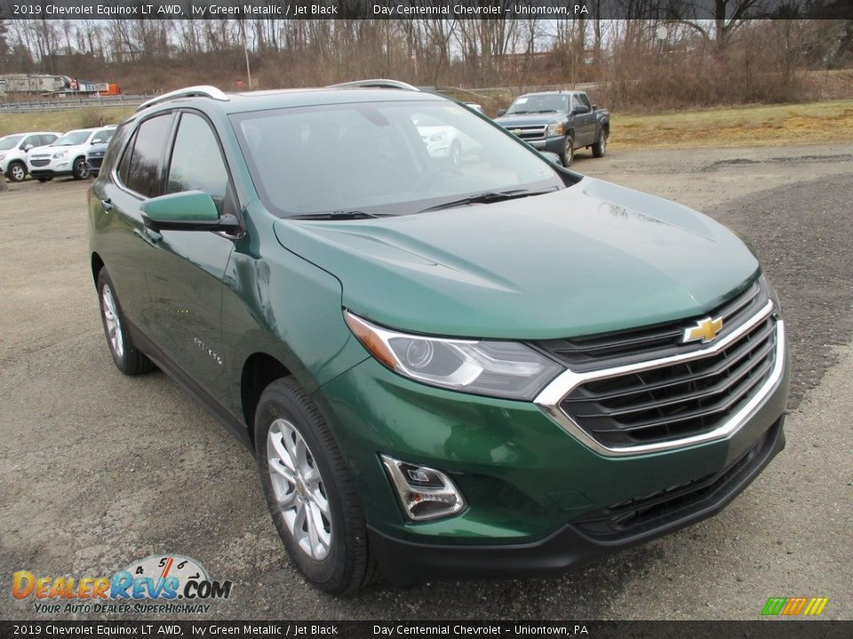 2019 Chevrolet Equinox LT AWD Ivy Green Metallic / Jet Black Photo #9