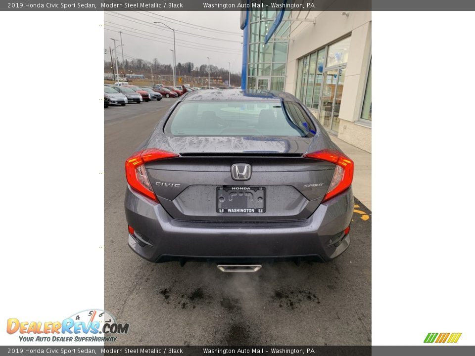 2019 Honda Civic Sport Sedan Modern Steel Metallic / Black Photo #6